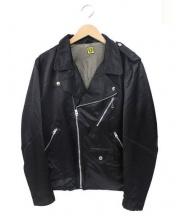 HUMAN MADE(ヒューマンメイド)の古着「LBナイロンライダースジャケット」|BLACK