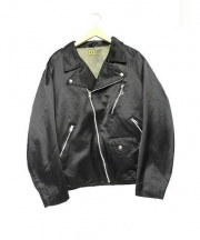 HUMANMADE(ヒューマンメイド)の古着「MBHU17S1000-LBナイロンライダースジャケット」|BLACK