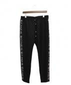 SELF MADE(セルフ メイド)の古着「JERSEYPANTS/サイドライントラックパンツ」|ブラック
