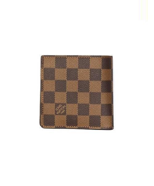 b1eb124ccff2 ... マルコ/2つ折り財布 エベヌ(ブラウン) ダミエ N61675 CA3089. LOUIS VUITTON