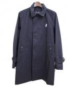 The shepherd UNDERCOVER(ザシェパードアンダーカバー)の古着「3レイヤーNyリップステンカラーコート」|ブラック