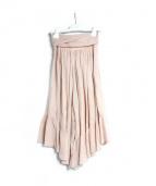 SEE BY CHLOE(シーバイクロエ)の古着「ハイウエストギャザーキュロットスカート」|ベージュ