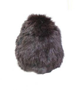 Cabour(カブール)の古着「ラビットファーニット帽」|ブラウン