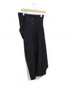 COMME des GARCONS HOMME PLUS(コムデギャルソンオムプリュス)の古着「変形スカート」|ブラック