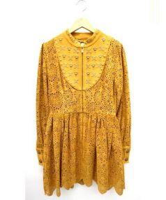 sretsis(スレッツィズ)の古着「フロントジップワンピース」|オレンジ系