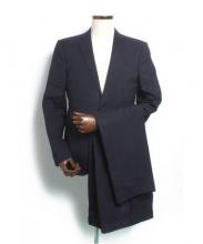 LOUIS VUITTON(ルイ・ヴィトン)の古着「裏地ダミエ2Bストライプスーツ」 ネイビー