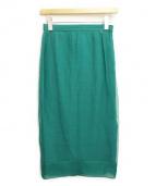 N°21(ヌメロ ヴェントゥーノ)の古着「シルクロングタイトスカート」|グリーン