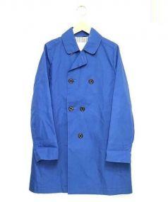 MACKINTOSH PHILOSOPHY(マッキントッシュフィロソフィー)の古着「ゴム引きトレンチコート」|ブルー