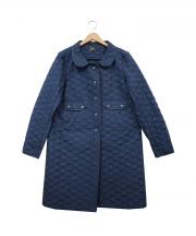 ANYA HINDMARCH(アニヤハインドマーチ)の古着「リボンキルティングコート」|ブルー