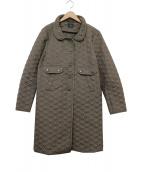 ANYA HINDMARCH(アニヤハインドマーチ)の古着「リボンキルティングコート」 オリーブ