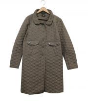 ANYA HINDMARCH(アニヤハインドマーチ)の古着「リボンキルティングコート」|オリーブ