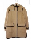 COACH(コーチ)の古着「ラムレザーパイピングコート」|キャメル
