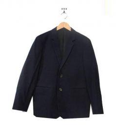 MARGARET HOWELL(マーガレットハウエル)の古着「ウール2Bテーラードジャケット」|ネイビー