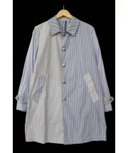 GLR Standard(グリーンレーベルリラクシングスタンダード)の古着「STD PASMAL CZY ステンカラーコート」|ブルー