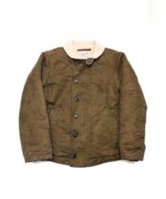 Stevenson Overall Co.(スティーブンソン オーバーオール)の古着「N-1デッキジャケット」|ブラウン