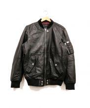 DIESEL(ディーゼル)の古着「MA-1レザージャケット」