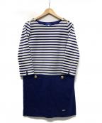 BLUE LABEL CRESTBRIDGE()の古着「マリン ボーダーワンピース」 ブルー