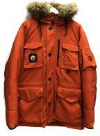 AIGLE()の古着「ダウンジャケット」|オレンジ