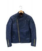 ADDICT CLOTHES(アディクト クローズ)の古着「レザージャケット」|ブルー