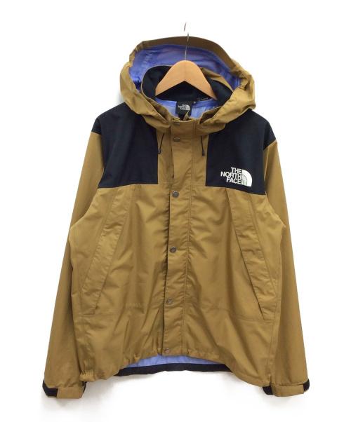 THE NORTH FACE(ザノースフェイス)THE NORTH FACE (ザノースフェイス) マウンテンレインテックスジャケット ブリティッシュカーキ サイズ:Lの古着・服飾アイテム