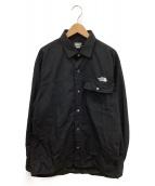 THE NORTH FACE(ザノースフェイス)の古着「ロングスリーブヌプシシャツ」|ブラック