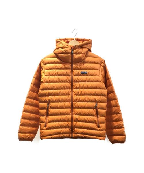 Patagonia(パタゴニア)Patagonia (パタゴニア) ダウンセーターフーディ オレンジ サイズ:XSの古着・服飾アイテム
