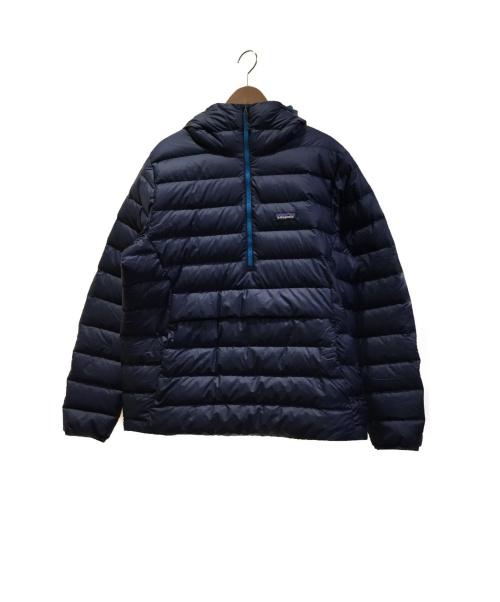 Patagonia(パタゴニア)Patagonia (パタゴニア) ダウンセーターフーディープルオーバー メンズ L ネイビー サイズ:Lの古着・服飾アイテム