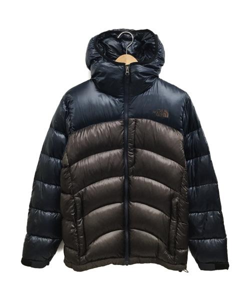 THE NORTH FACE(ザノースフェイス)THE NORTH FACE (ザノースフェイス) ACONCAGUA HOODIE ブラウン×ネイビー サイズ:M ND91314の古着・服飾アイテム