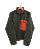 Patagonia(パタゴニア)の古着「クラッシックレトロXジャケット」|オレンジ×カーキ