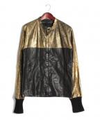 DAMIR DOMA(ダミールドマ)の古着「レザージャケット」|ブラック×ゴールド