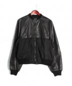 DAMIR DOMA(ダミールドマ)の古着「レザー切替ジャケット」|ブラック