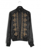 Saint Laurent Paris(サンローランパリ)の古着「Teddy Embroidery Blouson/ブルゾン」 ブラック