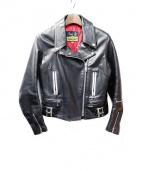 666(シックスシックスシックス)の古着「ロンジャン/レザージャケット」|ブラック