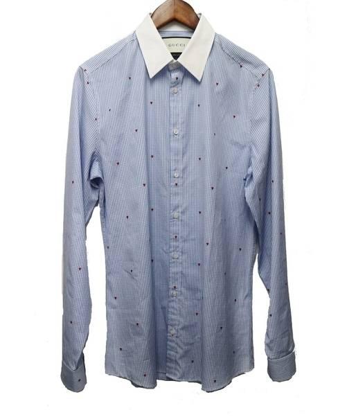 superior quality 97c05 fd4f1 [中古]GUCCI(グッチ)のメンズ シャツ(ブラウス) 16SS/ギンガムチェックシャツ