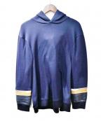 FAD3(ファドスリー)の古着「ジップ切替えプルオーバーパーカー」 ネイビー