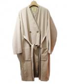 FAD3(ファッドスリ)の古着「ノーカラーコート」|ベージュ