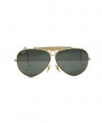 RAYBAN(レイバン)の古着「シューターサングラス」|ゴールド×グリーン