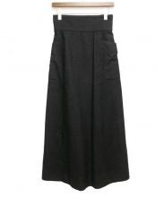 FUMIKA UCHIDA(フミカ ウチダ)の古着「SILK CAMBUS BUSTLE SKIRT/シルクキャ」|ブラック