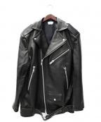 CMMN SWDN(コモン スウェーデン)の古着「レザージャケット」|ブラック