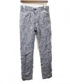 JULIEN DAVID(ジュリアンデイヴィッド)の古着「16SS/シワ加工パンツ」|グレー