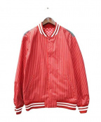 Supreme×COMME des GARCONS SHIRT(シュプリーム × コムデギャルソンシャツ)の古着「Varsity Baseball Jacket /ジャケット」 レッド×ホワイト