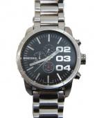 DIESEL(ディーゼル)の古着「リストウォッチ/腕時計」|ブラック×シルバー