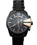 DIESEL(ディーゼル)の古着「腕時計/リストウォッチ」|ピンクゴールド×ブラック