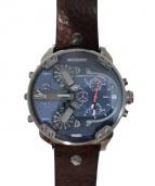 DIESEL(ディーゼル)の古着「MR DADDY 2.0/腕時計」|ネイビー×ブラウン