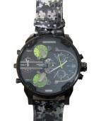 DIESEL(ディーゼル)の古着「腕時計」|ブラック×グリーン