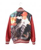 Supreme×COMME des GARCONS SHIRT(シュプリーム × コムデギャルソンシャツ)の古着「Varsity Baseball Jacket /ジャケット」 レッド