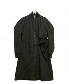 B Yohji Yamamoto(ビーヨウジヤマモト)の古着「16AW/アシンメトリージップシングルコート」 ブラック