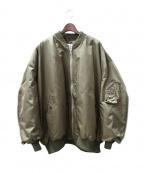 Hed Mayner(ヘド メイナー)の古着「オーバーサイズボンバージャケット」|カーキ