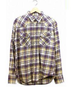 N.HOOLYWOOD×Wrangler(エヌハリウッド×ラングラー)の古着「ウエスタンシャツ」 イエロー×パープル
