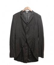 COMMEdesGARCONSHommePlus(コム デ ギャルソン オム プリュス)の古着「ライナースカーフジャケット」|ブラック